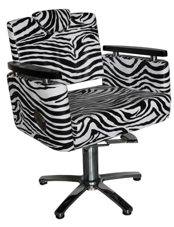 Fotel fryzjerski Siena 1874 - zebra
