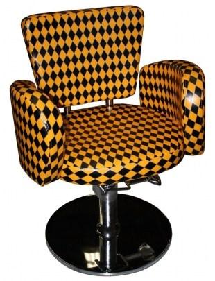 Cesano -1367 - Fotel fryzjerski - czarno-pomarańczowy