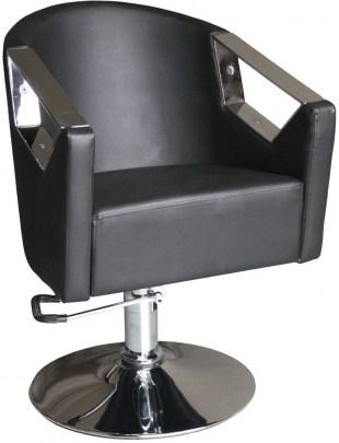 Asimo 1814 -   Fotel fryzjerski - czarny