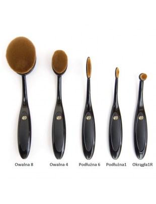 Zestaw szczotek do makijażu Essential Microfibre Professional Oval Cosmetic Brush Collection