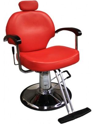 Fotel fryzjerski Carrara 1140 - czerwony