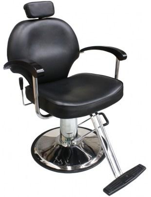 Carrara -1140 - Fotel fryzjerski - czarna