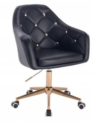 Blink - Fotel fryzjerski czarny