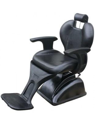 Anzio 1343 - Fotel fryzjerski męski - czarny