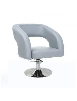 FUJI - Fotel fryzjerski szary na pompie hydraulicznej