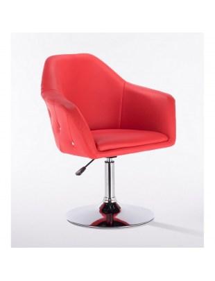 Blink Zet - Fotel fryzjerski czerwony