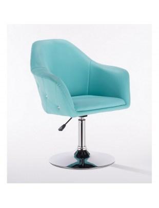 Blink Zet - Fotel fryzjerski turkusowy