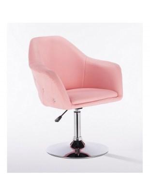 Blink Zet - Fotel fryzjerski różowy