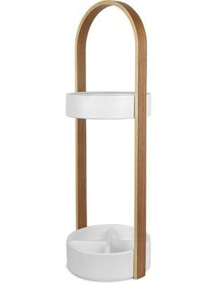 UMBRA stojak na parasolki HUB biały - drewno, metal