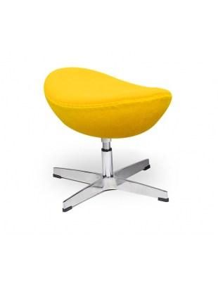 Podnóżek EGG CLASSIC żółty słoneczny.36 - wełna, podstawa aluminiowa