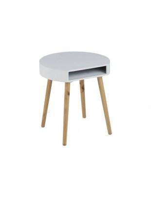 ACTONA stolik kawowy ELA biały - nogi z drewna sosnowego