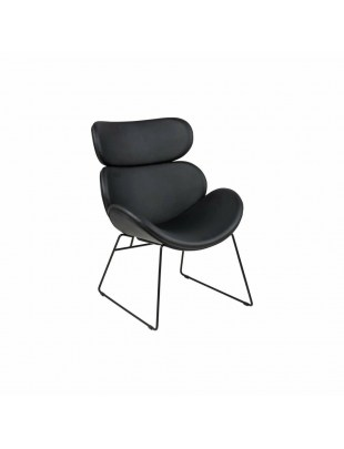 ACTONA krzesło CAZAR czarne - ekoskora, metal