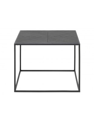 ACTONA stolik ORTIZ SQUARE czarny - drewno pawilonia, metal