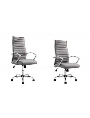 INVICTA fotel biurowy DEAL szary