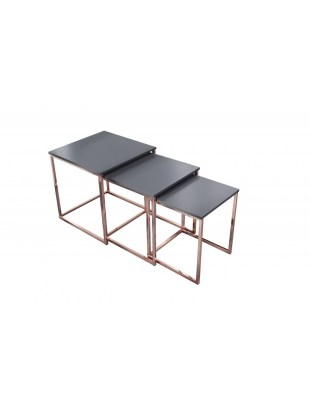 Zestaw stolików TRIO SLIM miedziany - podstawa miedziana