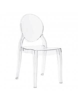 Krzesło ELIZABETH transparentne - poliwęglan