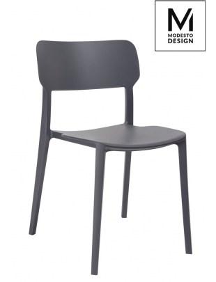 MODESTO krzesło AGAT szare - polipropylen