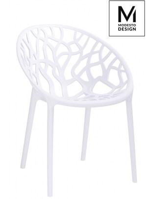 MODESTO krzesło KORAL białe - polipropylen