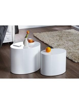 Zestaw stolików DIVISION białe - MDF