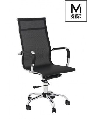 MODESTO fotel biurowy PROFIL SIATKA czarny - siatka, chrom