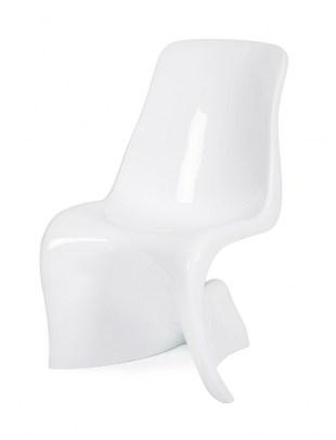Krzesło HER białe - włókno szklane
