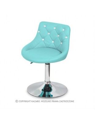 JULA - Krzesło kosmetyczne turkusowy Swarovski Elements