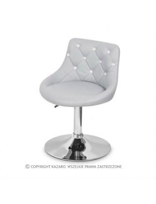 JULA - Krzesło kosmetyczne szare Swarovski Elements