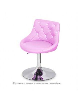 JULA - Krzesło kosmetyczne różowe Swarovski Elements