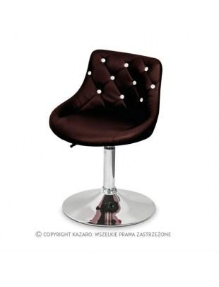 JULA - Krzesło kosmetyczne bordowe Swarovski Elements