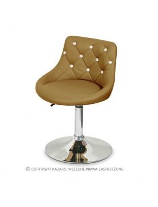 JULA - Krzesło kosmetyczne brązowe Swarovski Elements
