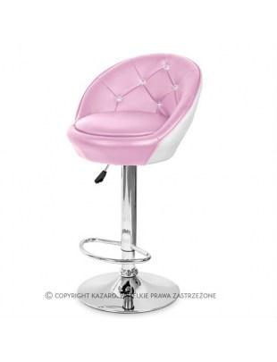 KORAL - Krzesło kosmetyczne  różowe Swarovski Elements