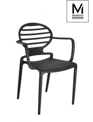 MODESTO krzesło TANK czarne - polipropylen
