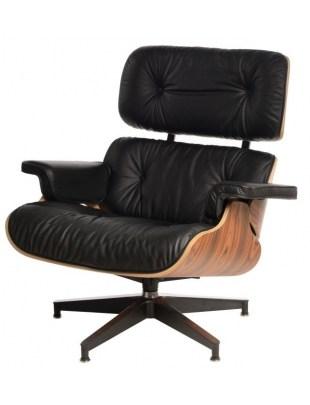 Fotel Vip czarny/rosewood/standard base
