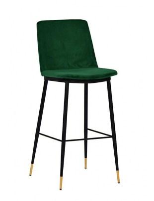 Hoker DIEGO 65 zielony - welur, podstawa czarno złota