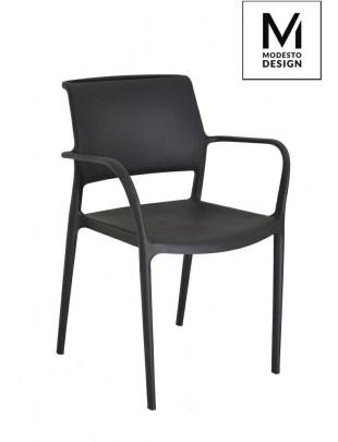 MODESTO krzesło PETRA czarne - polipropoylen