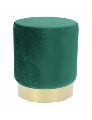 Pufa Delice Velvet L zielona