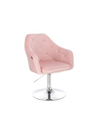 BLERM - Krzesło kosmetyczne pudrowy róż WYBÓR PODSTAW