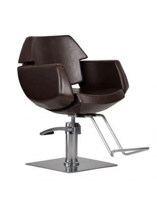 Fotel fryzjerski IMPERIA brązowy