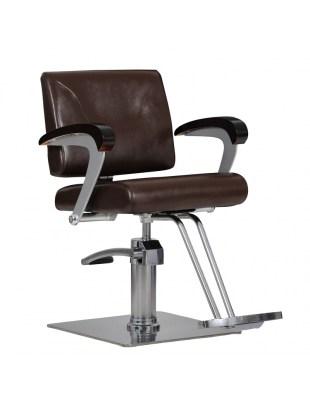 Fotel fryzjerski Kubik brązowy