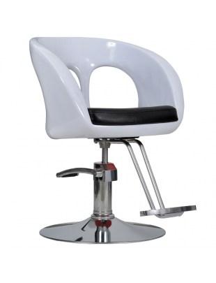 Fotel fryzjerski Ovo biały - Italpro
