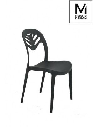 MODESTO krzesło MONSTERA czarne - polipropylen