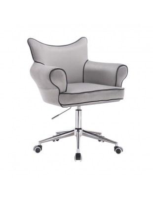 Czester - Krzesło kosmetyczne stalowy welur