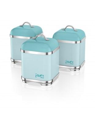 Set of 3 Canisters PEACOCK SWKA1025PKN