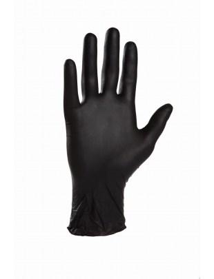 Rękawiczki nitrylowe czarne rozmiar S - opakowanie 100 szt.