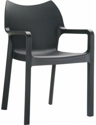 Krzesło Dionisio Black Arm chair OUTLET