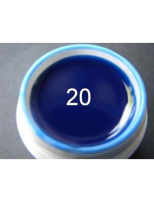 Żel a.t.a neon/fluo 5ml granat morski nr 20