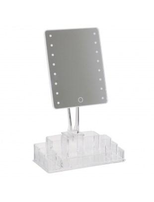 Lustro LED z organizerem Crystal