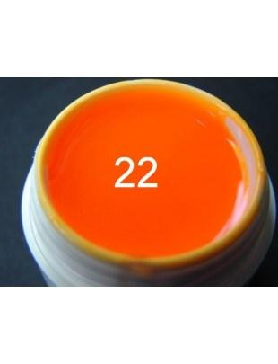Żel a.t.a neon/fluo 5 ml mandarynka nr 22