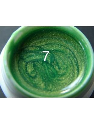 Żel a.t.a metaliczny 5 ml soczysta zieleń nr 7