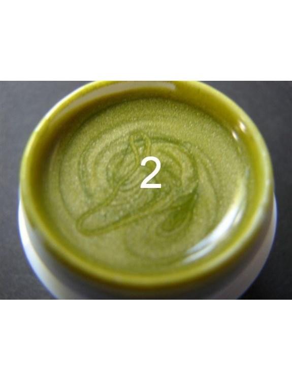 Żel a.t.a metaliczny 5 ml pistacja nr 2